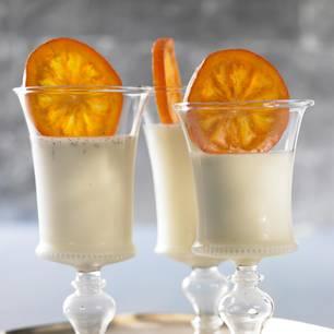 Panna Cotta mit kandierten Orangen