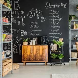 Wandgestaltung Küche: Wand mit Tafelfarbe