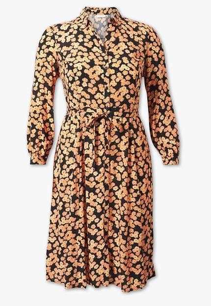 Du liebst feminine Looks? Dann darf ein Blümchenkleid auf keinen Fall in deinem modischen Repertoire fehlen. Damit der Herbst entsprechend eingeläutet wird, empfehlen wir dir daher dieses Blümchenmeer in Gelb/Orange. Von C&A, um 40 Euro