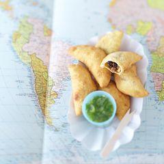 Empanadas mit Fleisch und Oliven