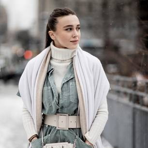 Streetstyle Layering-Look aus New York