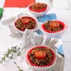 Couscous-Muffins mit Hackfleisch und Tomaten