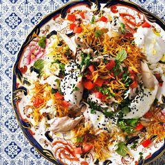 Orientalischer Fadennudel-Reis mit Hähnchen