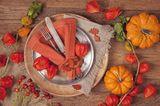 Tischdeko Herbst: Geschmückter Essplatz