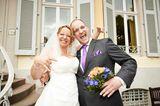 Hochzeit auf den ersten Blick: Brautpaar jubelt
