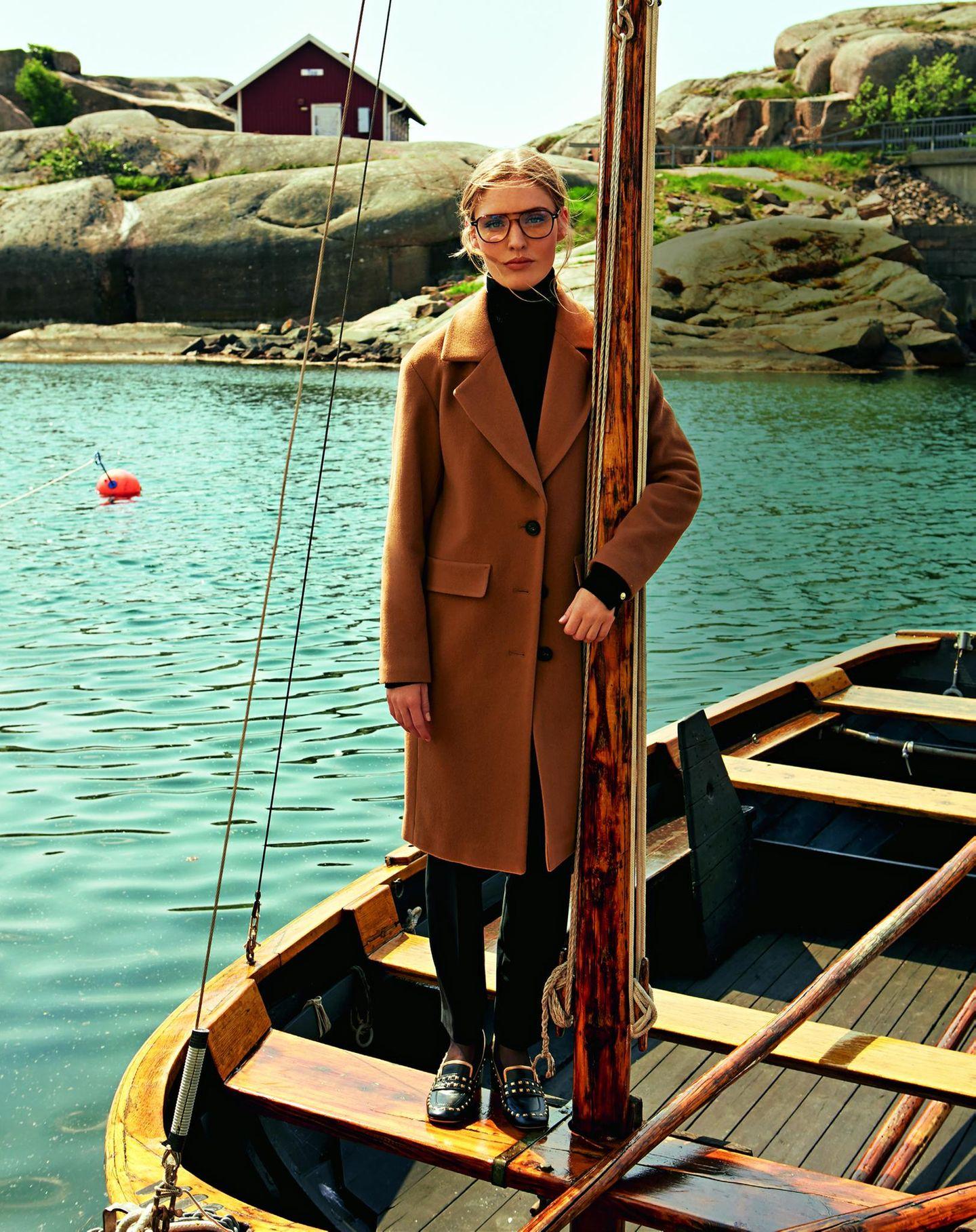Camel Coat: Diese Modelle tragen wir 2019: Einreihiger Wollmantel
