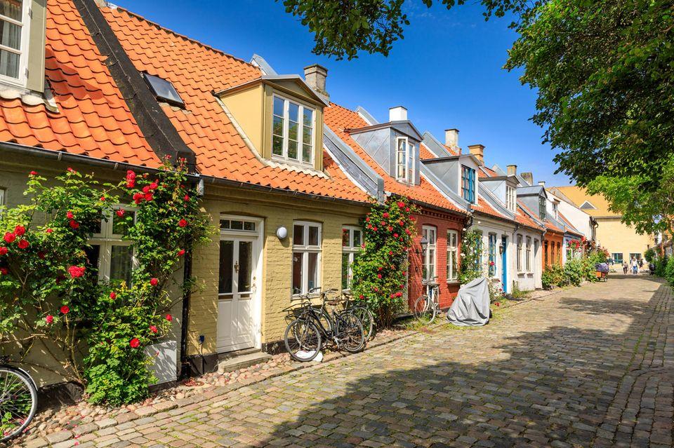 Sehenswürdigkeiten in Aarhus - die besten Tipps: Häuserreihe