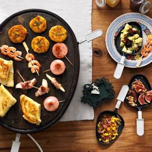 Raclette auf einem Tisch