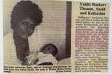 Sara Nuru Geburt in der Zeitung