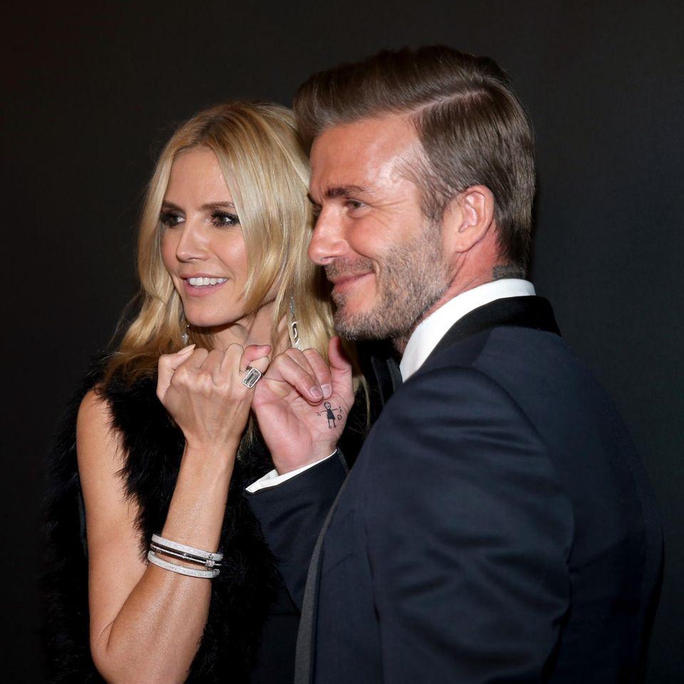 Heidi Klum und David Beckham: Praktikum