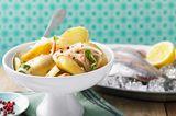 Marinierte Kartoffeln mit Apfelstreifen