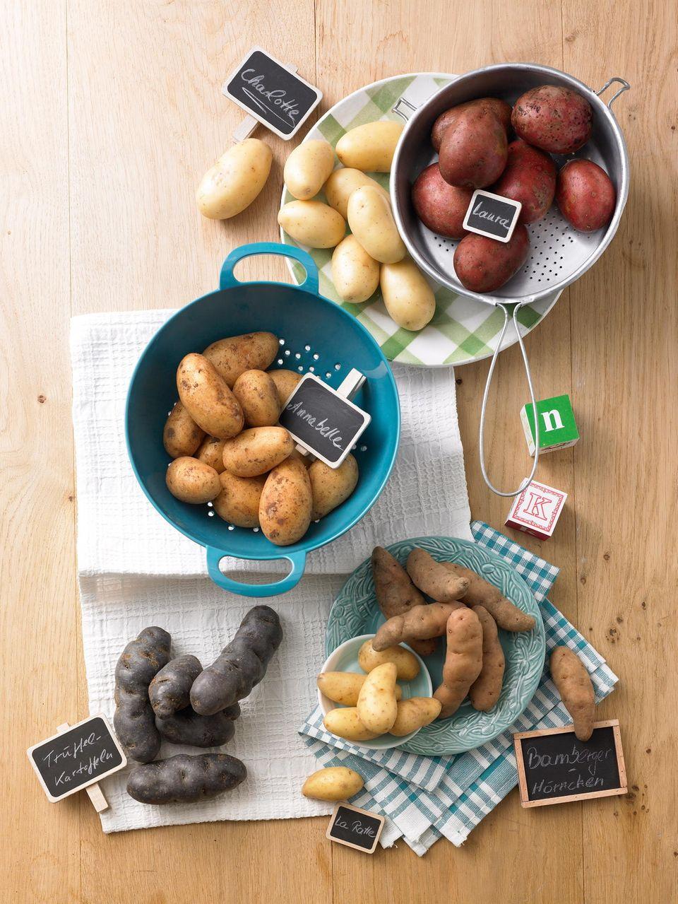 Neue Kartoffeln: Verschiedene Sorten
