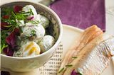 Kräuter-Rahmkartoffeln mit Matjes