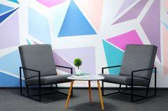 Wand streichen Ideen: Wand mit geometrischem Muster
