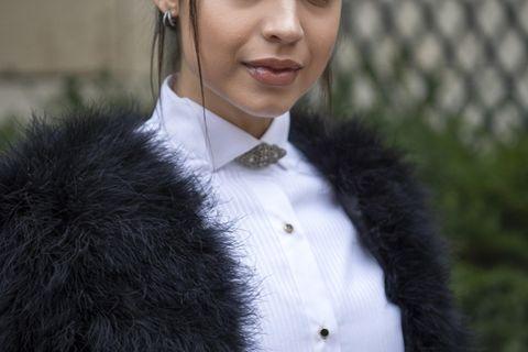 Glamour-Frisuren: Frau mit Hochsteckfrisur