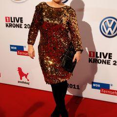 Maite Kelly: im Paillettenkleid auf dem roten Teppich