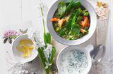 Erbsen-Couscous mit Flusskrebsen