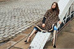 Pariser Chic - zurück zur Eleganz!: gemusterter Wollponcho