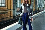 Pariser Chic - zurück zur Eleganz!: Lackmantel über Schluppenbluse und Culotte