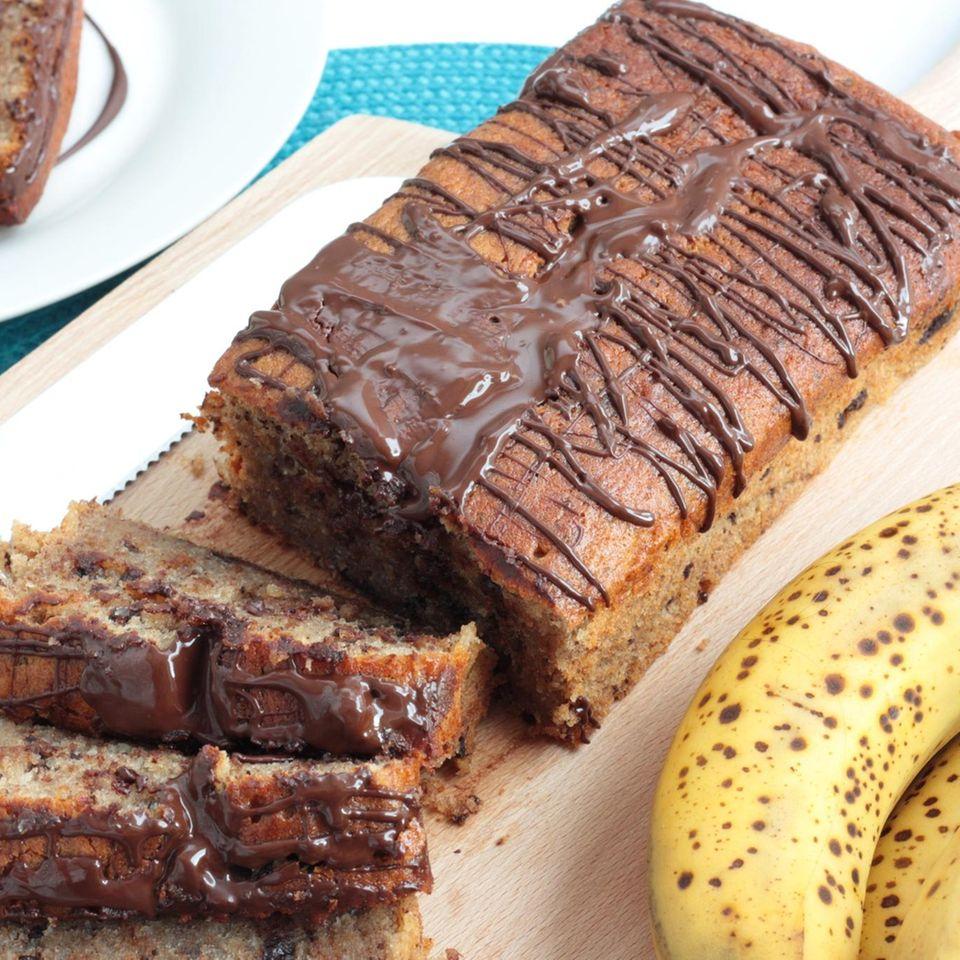 Bananenkuchen mit Schokolade