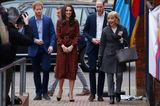 Weihnachten bei den Royals: Kate Middleton im roten Kleid