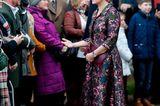 Weihnachten bei den Royals: Gräfin Sophie von Wessex im Mantelkleid