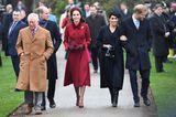 Weihnachten bei den Royals: Kate Middleton und Meghan Markle spazieren