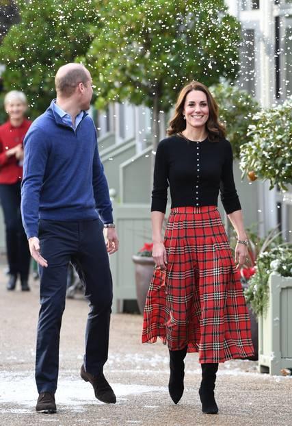 Weihnachten bei den Royals: Kate Middelton im Karo-Rock