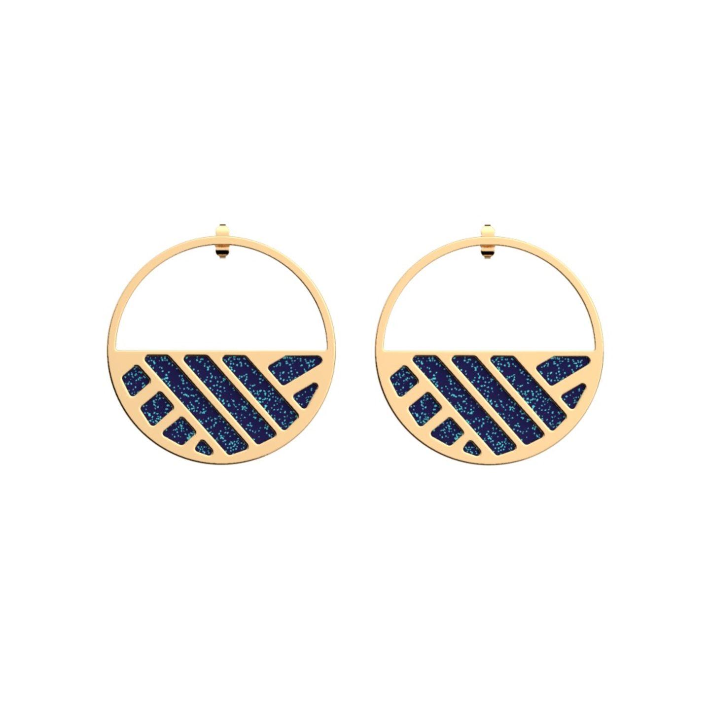 goldene Ohrringe mit Glitzer Details