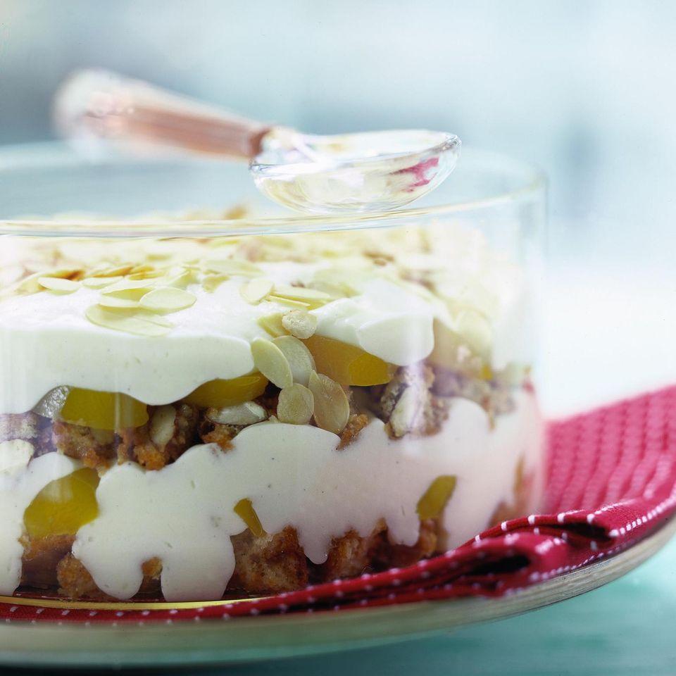 Trifle aus Vanille-Flammeri