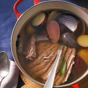 Kartoffeleintopf mit Tafelspitz und Kren
