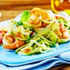 KFZ-Diät: Nudeln mit Garnelen und Gemüse