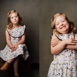 Down-Syndrom: Mädchen mit verschiedenen Emotionen