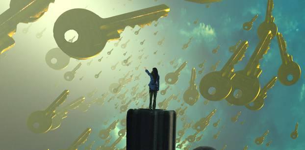 Traumdeutung: Frau träumt von Schlüsseln