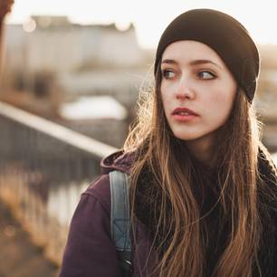Horoskop: Eine ängstliche Frau