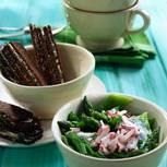Bohnensalat mit Radieschen-Schmand