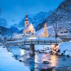 Weiße Weihnachten in Deutschland: Schnee-Landschaft