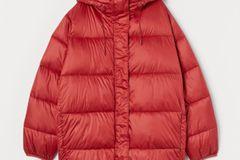 Puff-Jacke in Rot