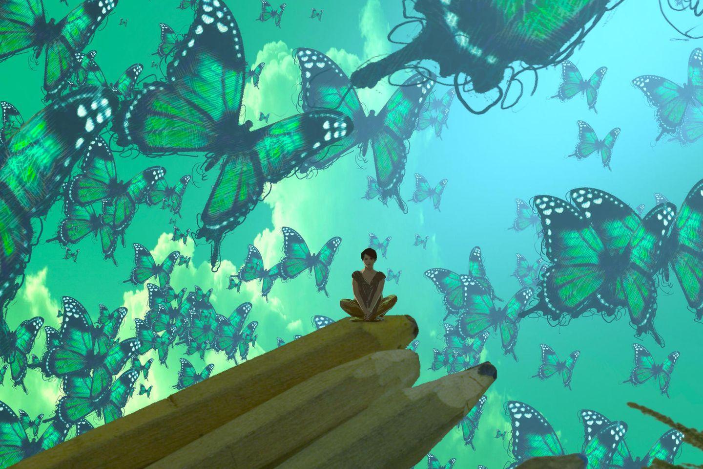 Traumdeutung: Frau träumt von Schmetterlingen