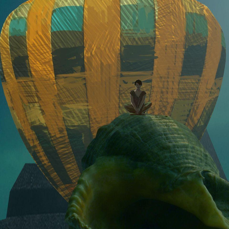 Traumdeutung: Frau träumt von einem Heißluftballon