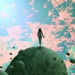 Traumdeutung: Frau in ihrer Traumwelt