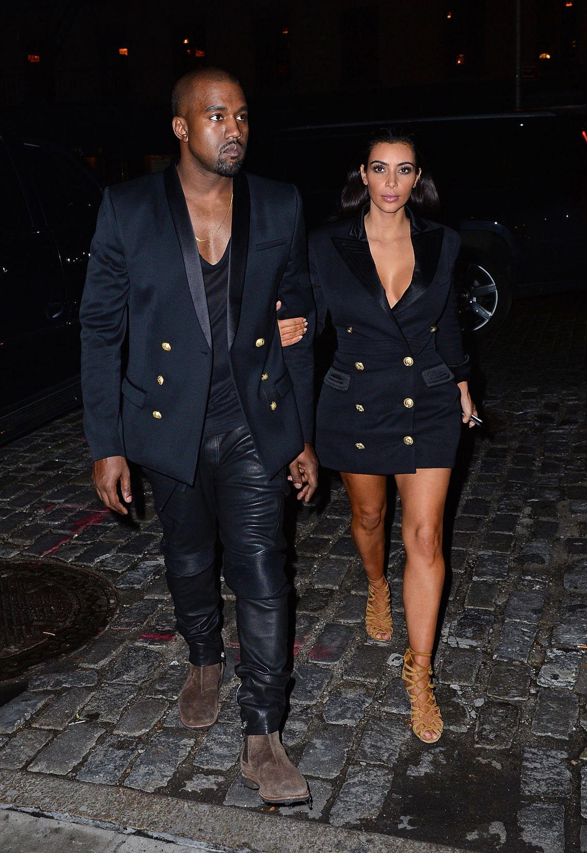 Stars im Partnerlook: Kim Kardashian mit Kanye West unterwegs