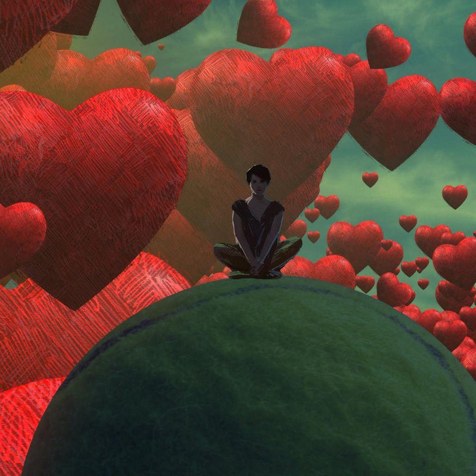 Traumdeutung: Frau träumt von Herzen