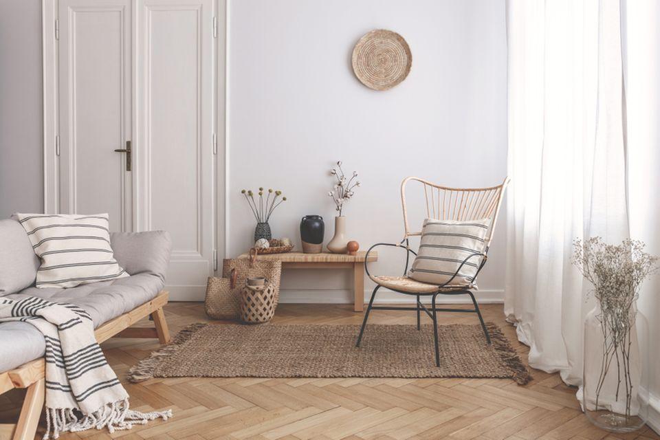Modern wohnen: Helles Wohnzimmer