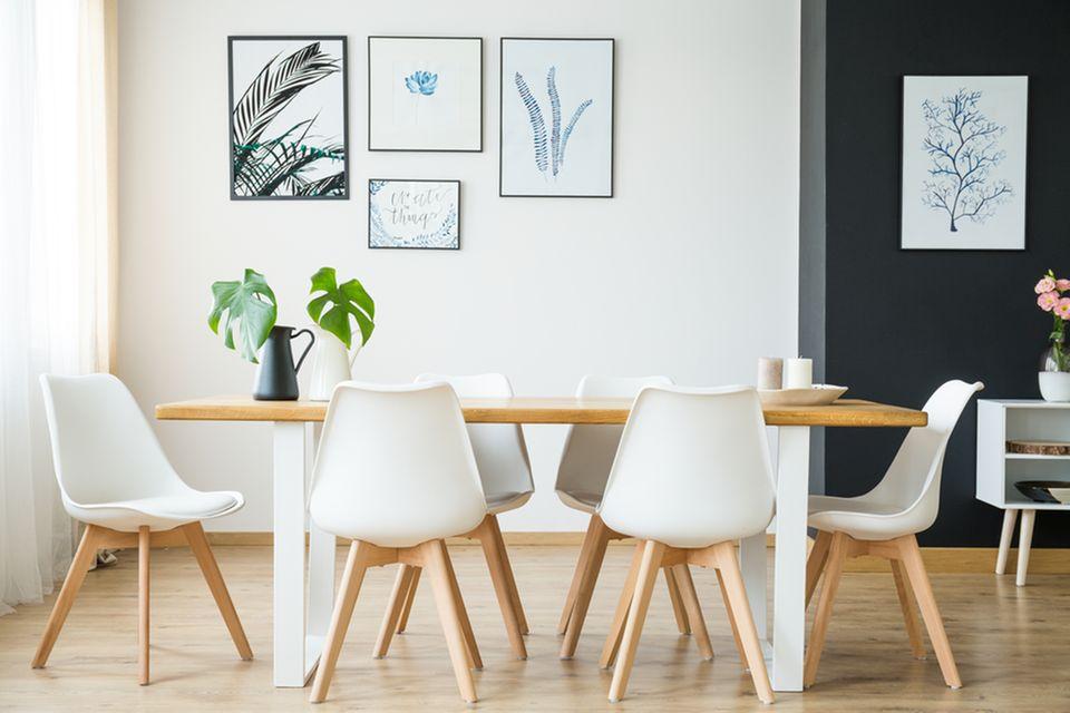 Modern wohnen: Esszimmer im skandinavischem Einrichtungsstil