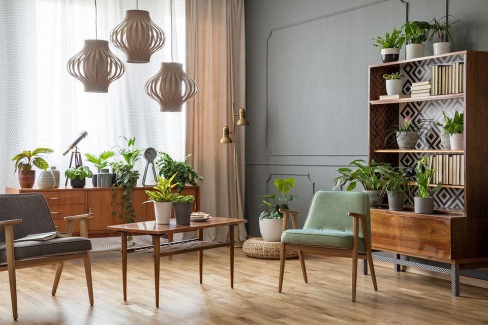 Modern wohnen: Wohnzimmer im Retro-Look