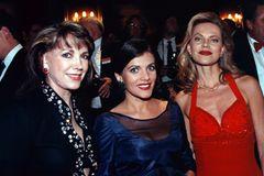 Birgit Schrowange: mit Nina Ruge und Petra Schürmann auf einer Gala