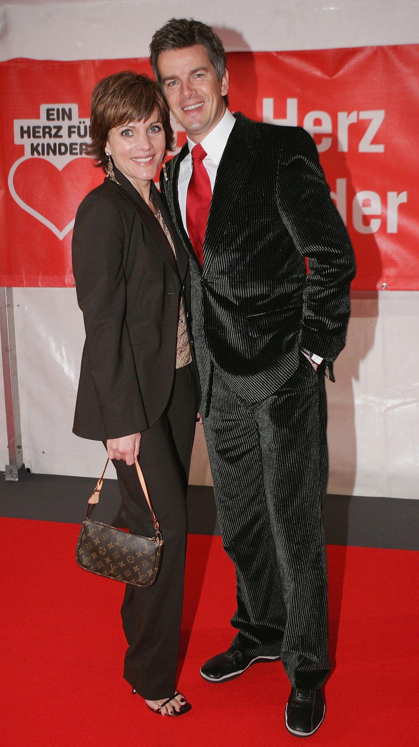 Birgit Schrowange: mit Markus Lanz auf dem roten Teppich