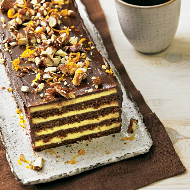 Çikolata ve portakal katman kek