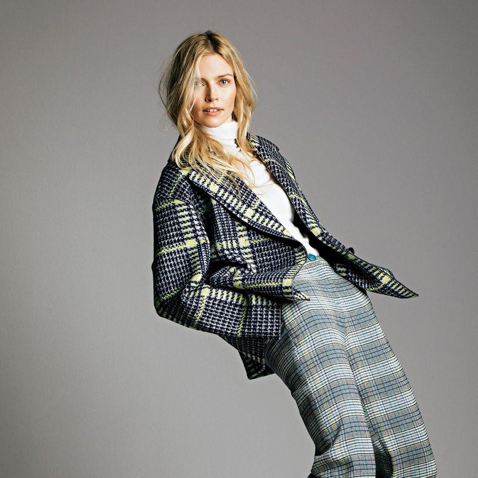 Fashion-Highlights: Schöne Mode-Trends der Saison: Karo-Outfit